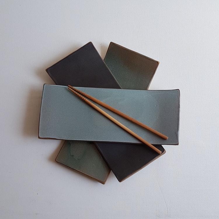 Sushitallrik / Uppläggningsfat i Serien Svart Granit