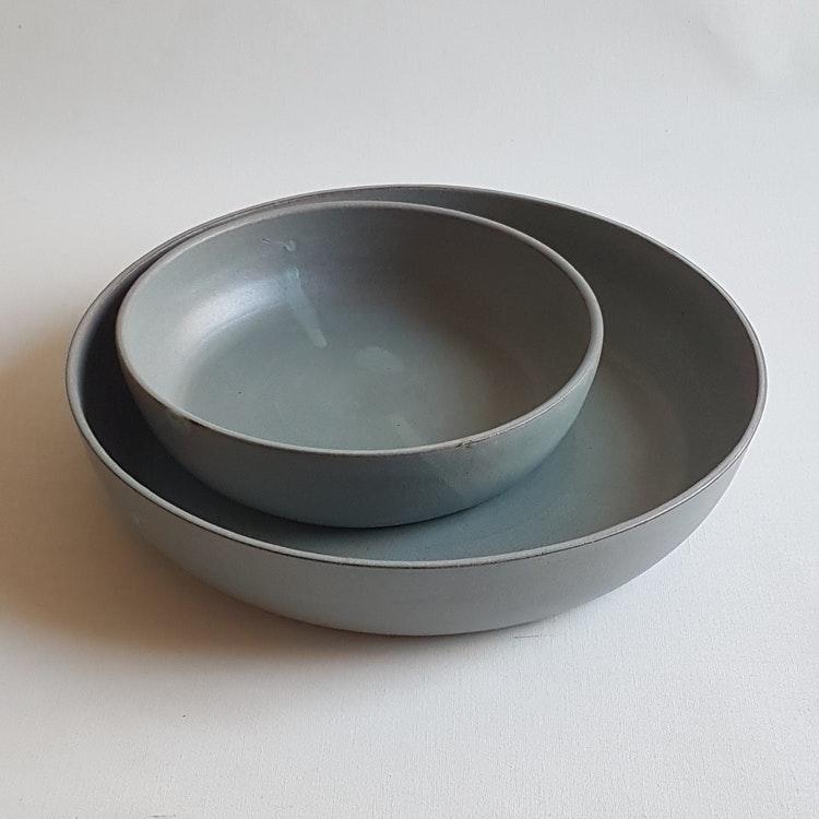 Pajform i Serien Råsiden / Grågrön / ca 30 cm i diameter