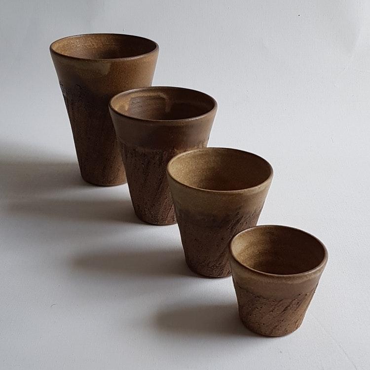Cappuccino / Liten Kaffemugg i Serien Rustik