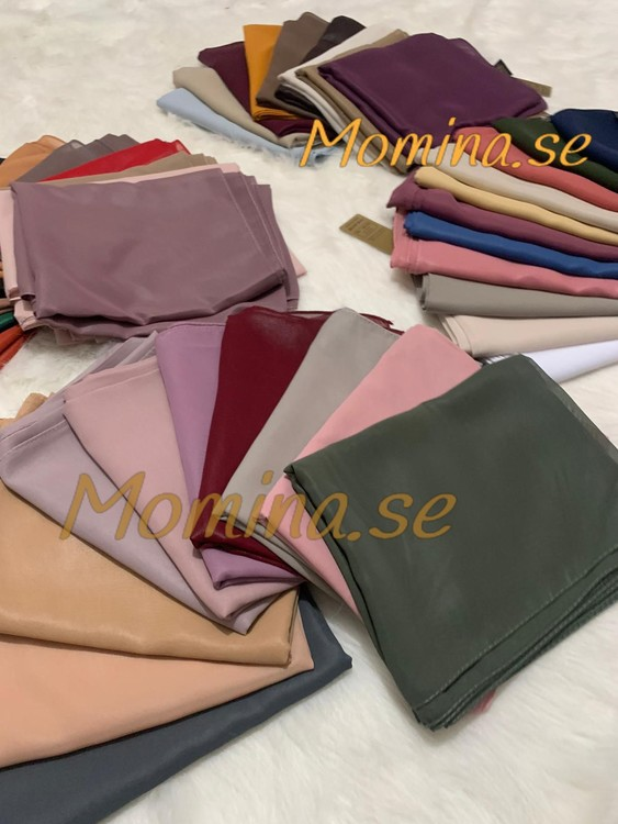 Lyx läder Chiffong sjal