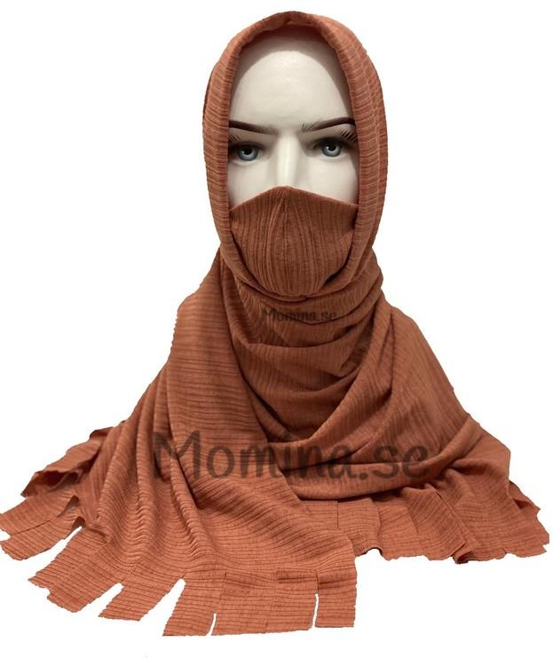 praktisk sjal med munskydd