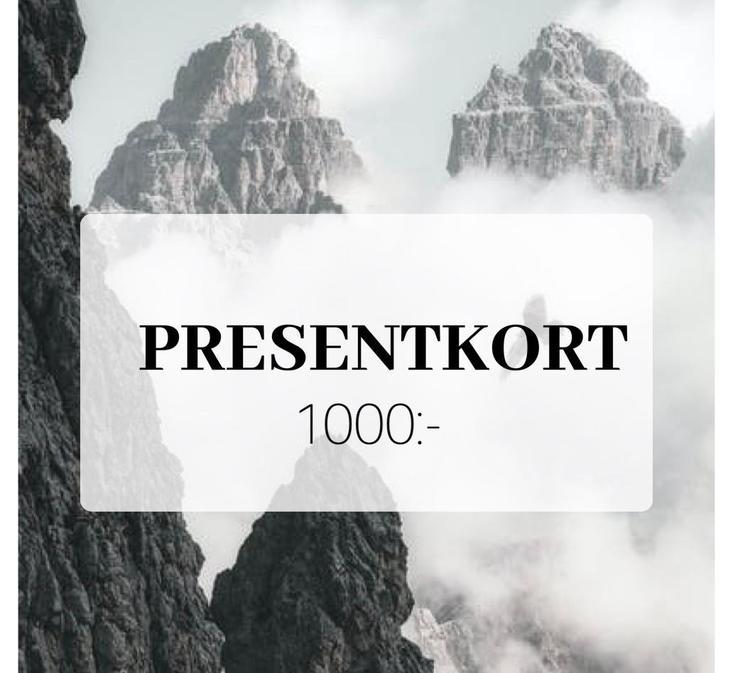 Presentkort 1000 SEK (Skickas digitalt på mail)