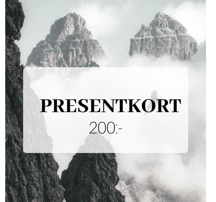 Presentkort 200 SEK (Skickas digitalt på mail)