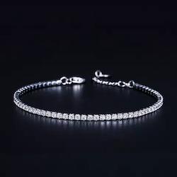 Armband Zirconia 925 Silver