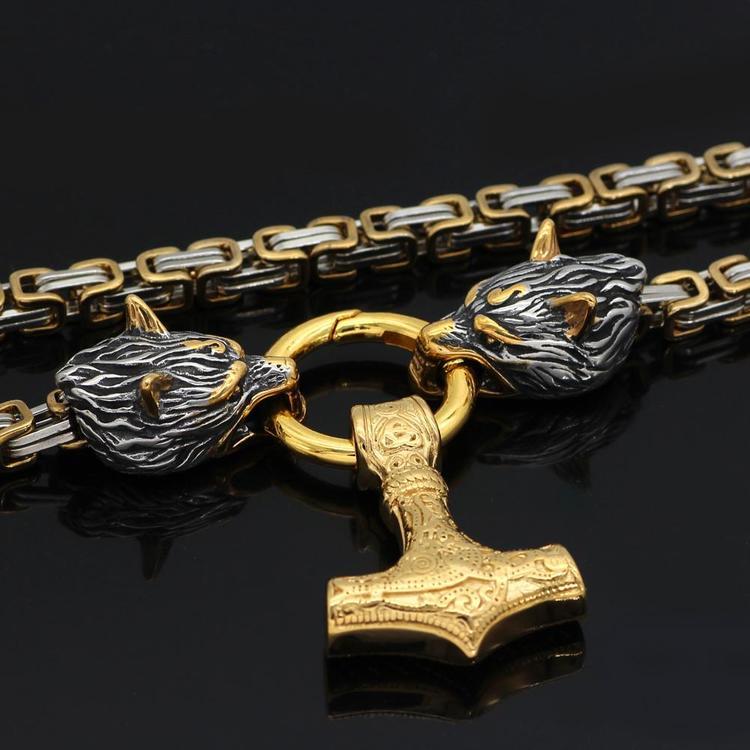 Halsband Golden Wolves Gold