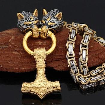 Kaulakoru Golden Wolf Gold