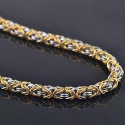 Pakke Golden Kungslänk halskæde og armbånd