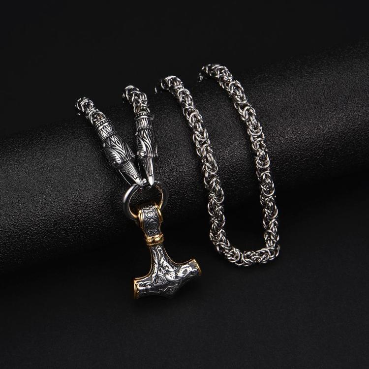 Halsband Hugin silver/gold