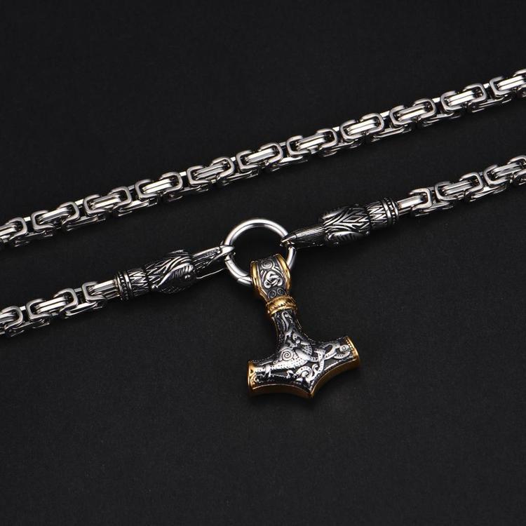 Halsband Munin silver/gold