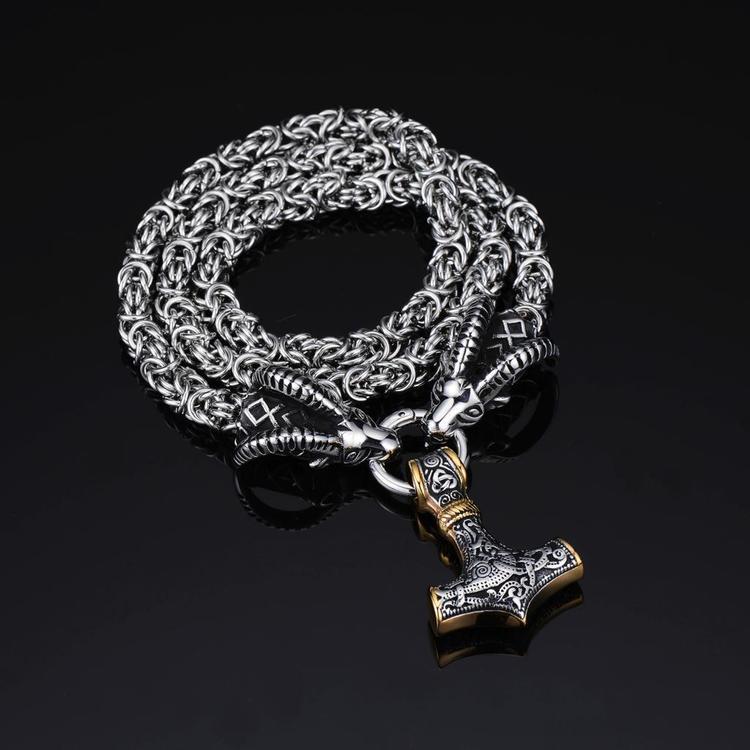Halsband Tanngnjost silver/gold