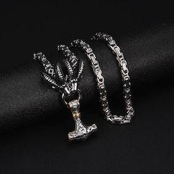 Halsband Tanngrisner silver/gold