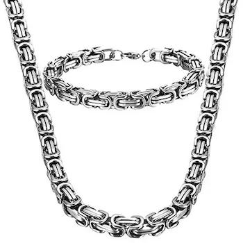 Paket Wolf Halsband och Armband