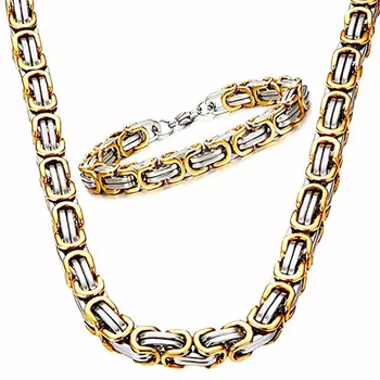 Paket Golden Wolf Halsband och Armband