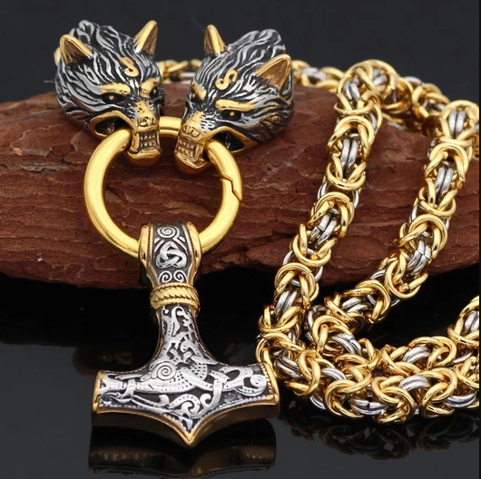 Package Golden Valhalla Necklace and Bracelet