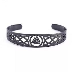 Armband Valknut stål