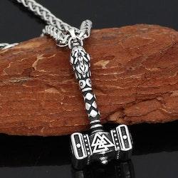 Halsband Hammer Valknut