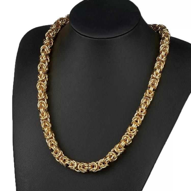 Paket Pure Golden Kungslänk Halsband och Armband