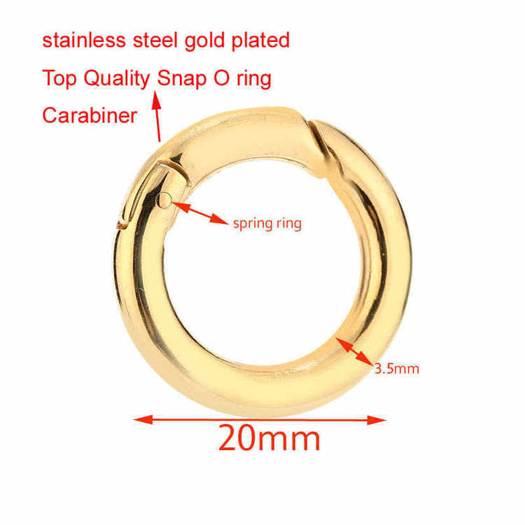 Fjädrande o-ring rostfritt stål 20 mm
