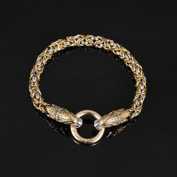 Armband Halvdan silver/gold