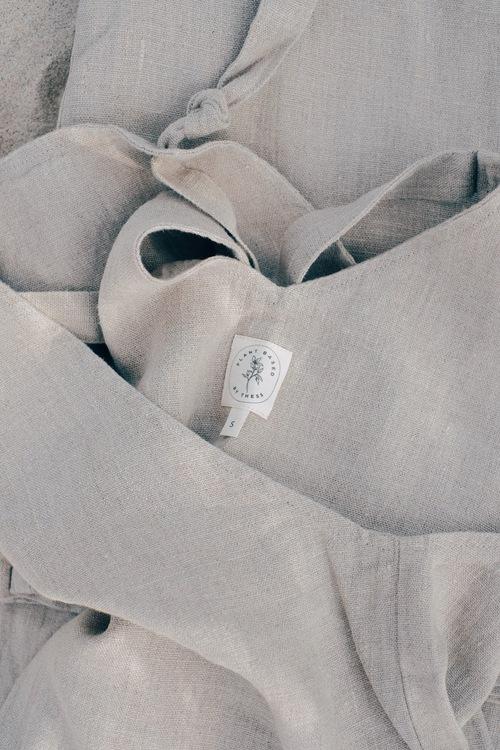 Hängselbyxa BYRON - Klassisk linne