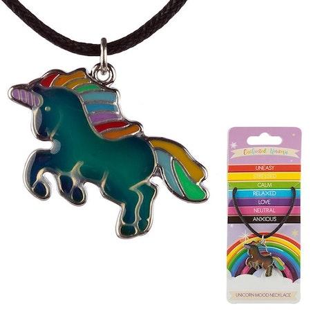 Rainbow Enhörning Mood Halsband