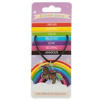Rainbow Enhörning Mood Halsband