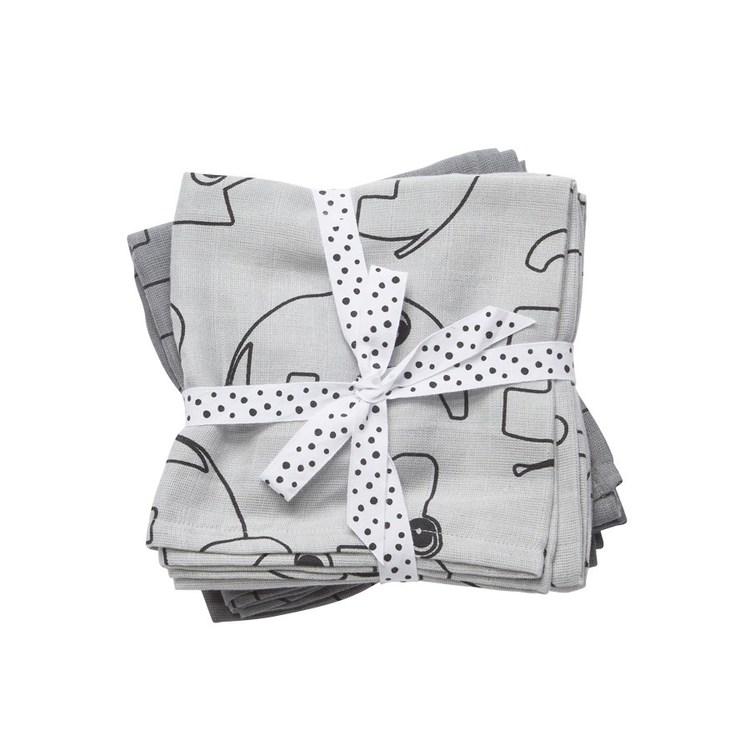 Burp cloth, 2-pack Contour Grey
