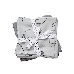 Burp cloth, 2-pack Contour Grey