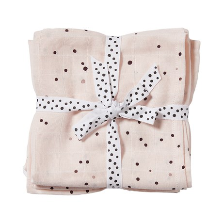 Burp cloth, 2-pack Dreamy dots Powder