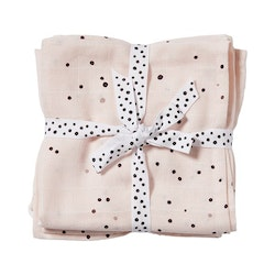 Burp cloth, 2-pack Dreamy dots Powder