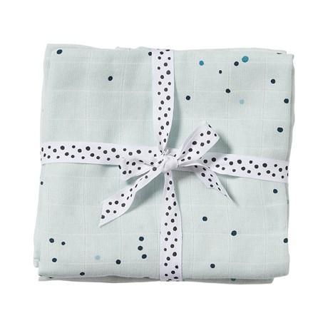 Burp cloth, 2-pack Dreamy dots Blue