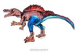 Vykort Spindelsaurus
