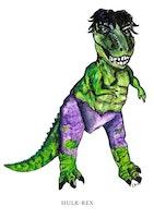 Vykort Hulk-rex