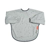 Sleeved bib, 6-18m Dreamy dots Grey