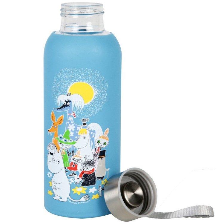 Vattenflaska i glas Mumin