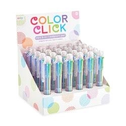 6 färger i en bläckpenna