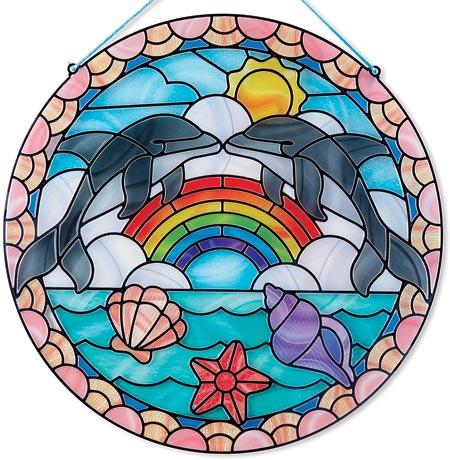 Glaskonst delfiner
