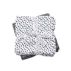 Burp cloth 2-pack Happy dots Grey