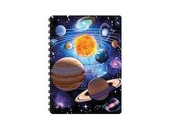 Skrivbok liten 3D Solsystem