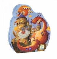 Siluettpussel 54-bitar Valliant and the Dragon