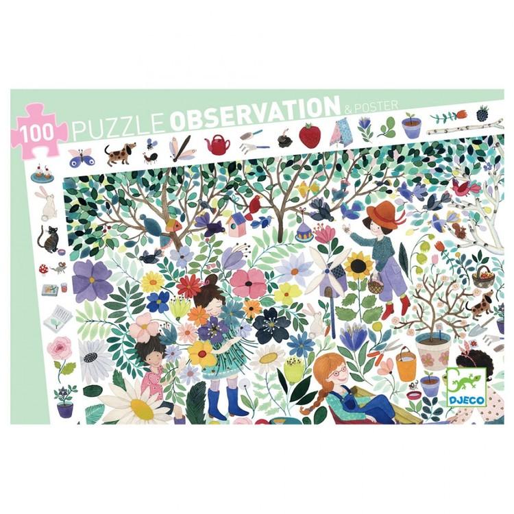 Observation puzzle 100 bitar, 1000 flowers