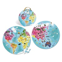 Janod 208 pcs. double sided puzzles