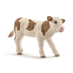 Kalv brun/vit