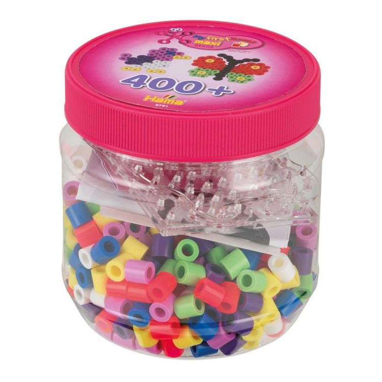 Hama Maxi Beads Tub 400 pcs Rosa