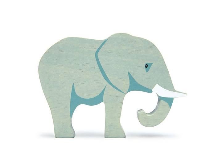 Vild elefant i trä