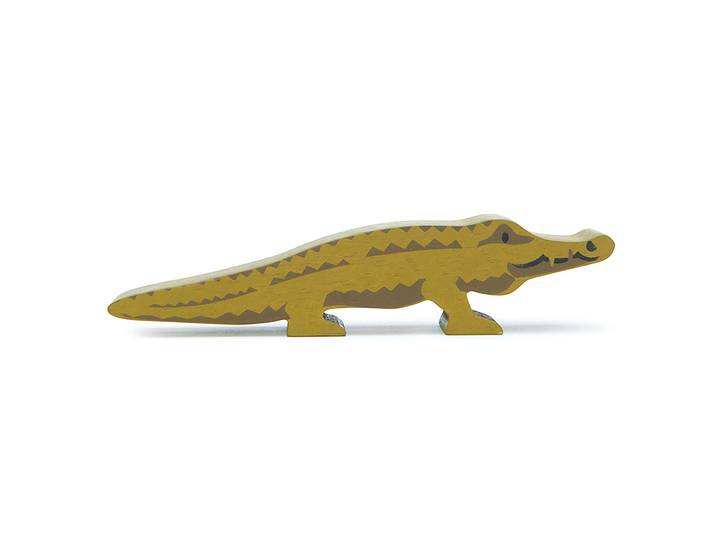 Vild krokodil i trä