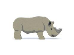 Vild noshörning i trä