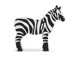 Vild zebra i trä