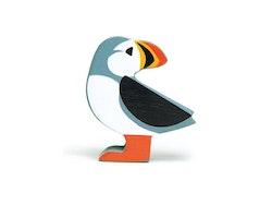 Hav lunnefågel i trä