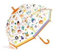 Paraply med ansikten- ändrar färg
